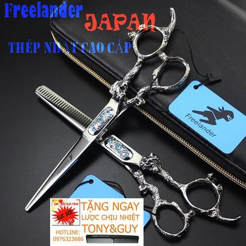 Bộ kéo cắt tỉa tóc,Bộ 2 Kéo Cắt Tỉa Tóc 6 Inch Nhật Bản Freelander FR10 TAY RỒNG Đính Đá Sắc Bén TẶNG BAO KÉO Kasho và Hai Cây Lược Tony&Guy - 11745907 , 19075720 , 15_19075720 , 1299000 , Bo-keo-cat-tia-tocBo-2-Keo-Cat-Tia-Toc-6-Inch-Nhat-Ban-Freelander-FR10-TAY-RONG-Dinh-Da-Sac-Ben-TANG-BAO-KEO-Kasho-va-Hai-Cay-Luoc-TonyGuy-15_19075720 , sendo.vn , Bộ kéo cắt tỉa tóc,Bộ 2 Kéo Cắt Tỉa Tóc