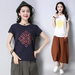 Áo kiểu nữ họa tiết 1A5285