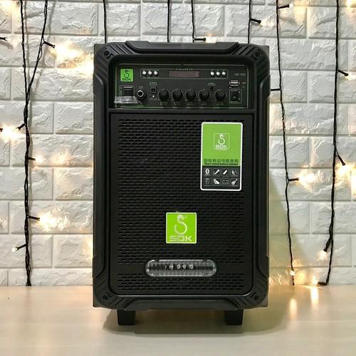 Loa kéo karaoke di động giá rẻ SOK NE-502, Loa kéo bluetooth thùng gỗ mini âm thanh chất lượng