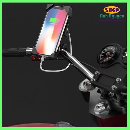 Giá Đỡ điện thoại có sạc USB gắn gi đông cho xe Moto - 11335397 , 19070168 , 15_19070168 , 180000 , Gia-Do-dien-thoai-co-sac-USB-gan-gi-dong-cho-xe-Moto-15_19070168 , sendo.vn , Giá Đỡ điện thoại có sạc USB gắn gi đông cho xe Moto