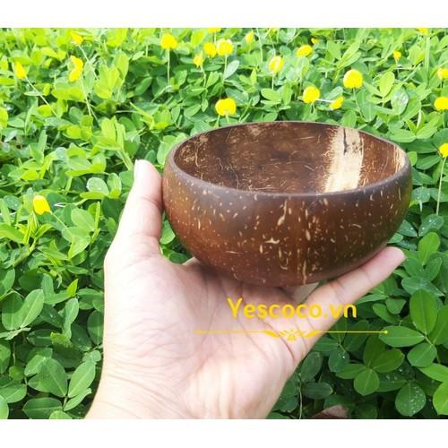 [MUA 5 TẶNG 1] Bát Cơm Gáo Dừa Tặng 1 thìa súp gỗ| YESCOCO XƯỞNG SX