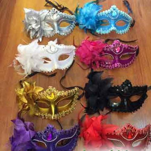 Mặt Nạ Mẫu Viền Ren Bông Hóa Trang Halloween