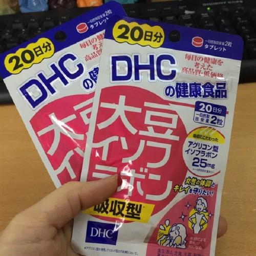 Viên uống DHC mầm đậu nành, giúp tăng tiết dịch, cải thiện triệu chứng tiền mãn kinh, gói 40 viên sử dụng 20 ngày