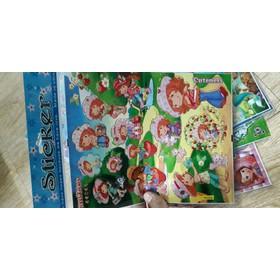 Set 10 hình dán sticker hoạt hình kích thước 22x24cm có 10 mẫu - 10 tờ dán hoạt hình