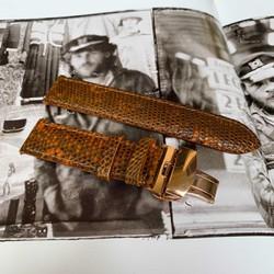 Dây đồng hồ da kỳ đà khóa bướm - Đồ da thủ công Mino Crafts MC365