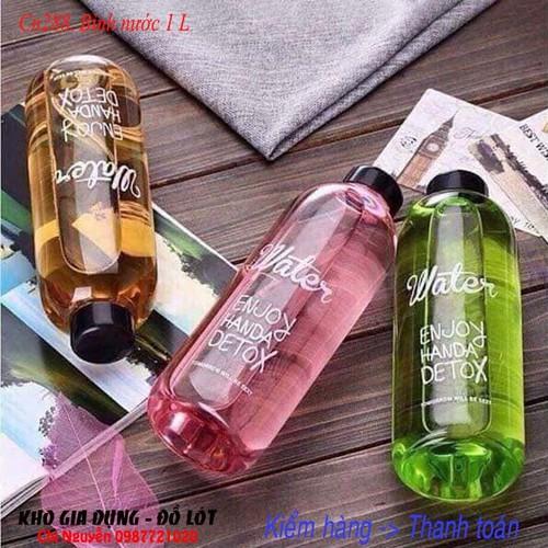 Bình 1L PongDang nhựa đựng nước uống kèm túi - Bình detox