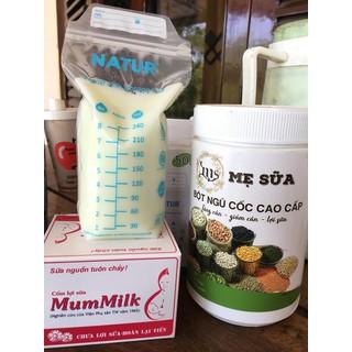 combo 1 hộp ngũ cốc siêu lợi sữa và 1 hộp cốm - Tặng vòng dâu tằm trừ tà cho bé đơn từ 250k - NC9 thumbnail