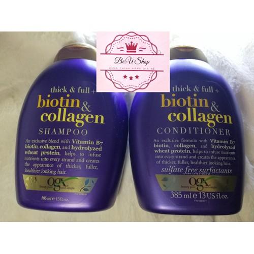 {Cam Kết Chính Hãng} Dầu Gội và Dầu Xả Thick and Full Biotin Collagen 385 ml - 13 fl oz
