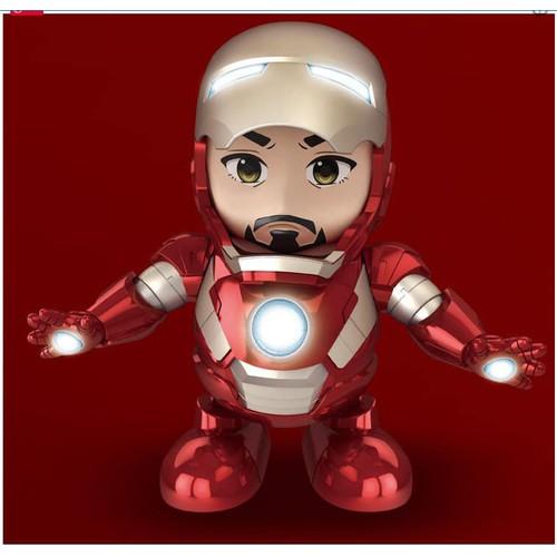 Đồ chơi cho bé robot iron man - robot nhảy múa xoay 360 độ