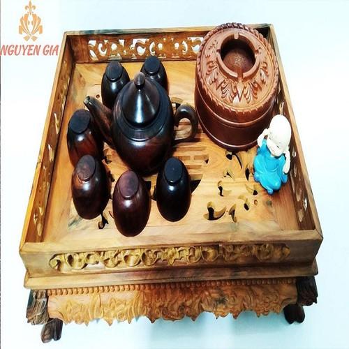 Gạt tàn gỗ hương cao cấp hình tròn