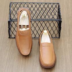 giày lười da, giày tây công sở, giày da bò cao cấp Mã D6- tặng tất lửa nam