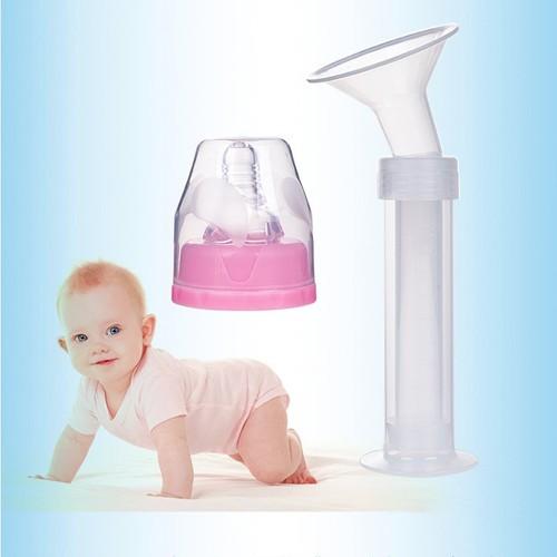 Dụng cụ hút sữa bằng tay dạng xilanh + Tặng túi trữ sữa cao cấp