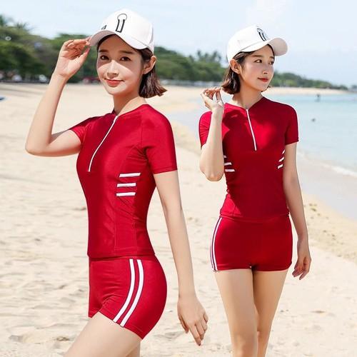 Đồ bơi nữ tay ngắn- đỏ