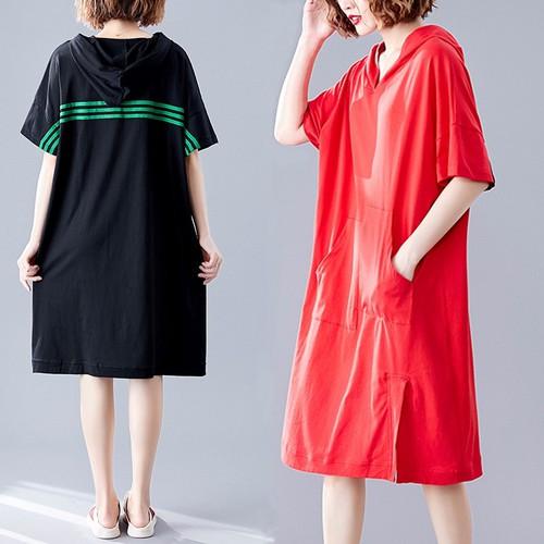 Đầm thun suông theo phong cách hàn quốc
