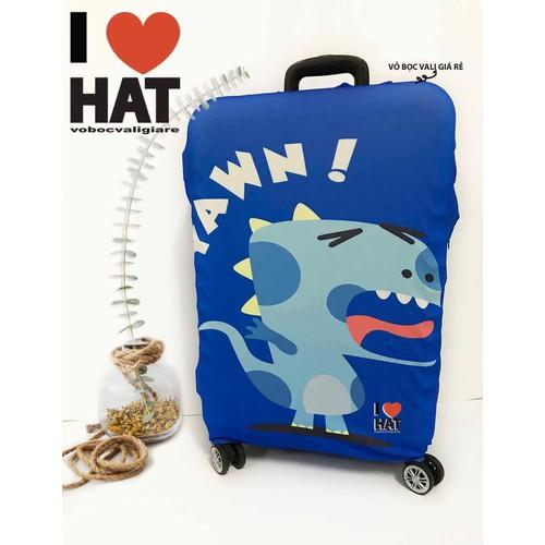 Vỏ bọc vali khủng long xanh -T6-size L - Không bán vali