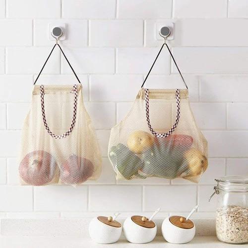 Túi lưới đa năng, đựng hành tỏi cho nhà bếp