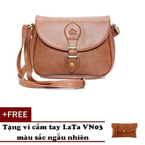 Túi đeo chéo thời trang nữ lata hn14 tặng ví cầm tay lata vn03