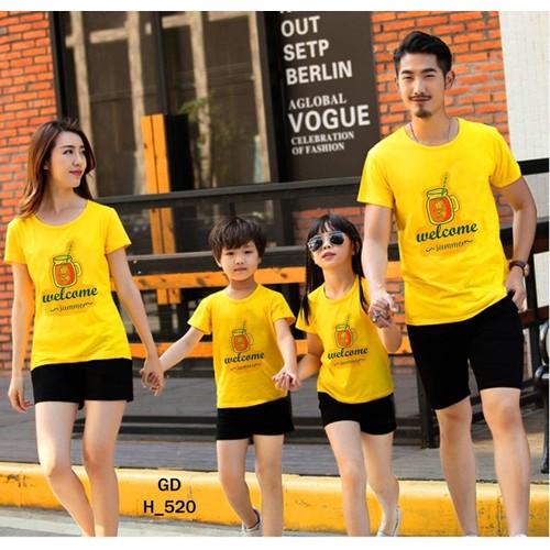 bộ quần +áo gia đình yêu thương