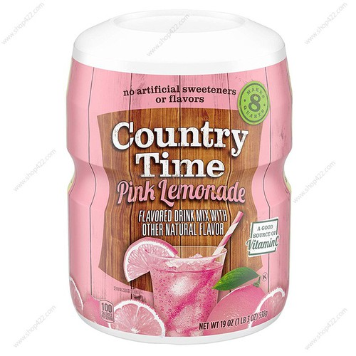 Bột pha nước country time pink lemonade 538g