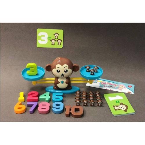 Cân học thăng bằng khỉ -học toán, định lượng