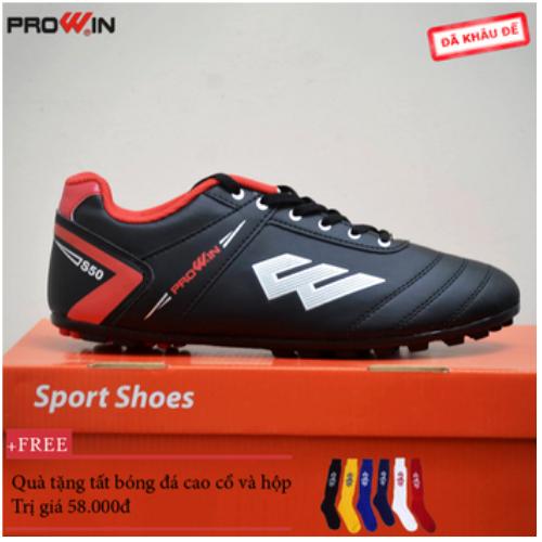 Giày đá bóng prowin s50 người lớn size 38 đến 43 chính hãng - tặng kèm tất bóng đá cao cổ