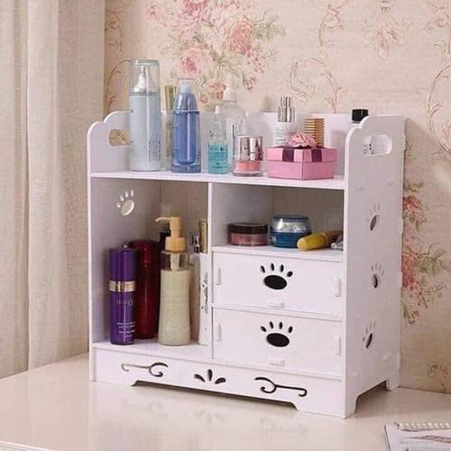 Tủ gỗ trang điểm họa tiết chân gấu