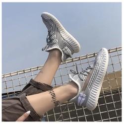 Giày Thể Thao Nữ Cao Cấp Viền Lưới Fullbox Dây Phát Sáng Phản Quang
