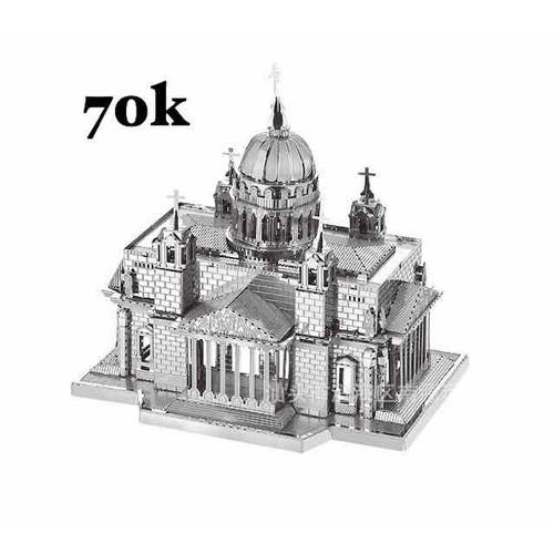 Mô hình lắp ghép kim loại 3d nhà thờ