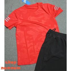 Bộ quần áo thể thao họa tiết nam màu đỏ