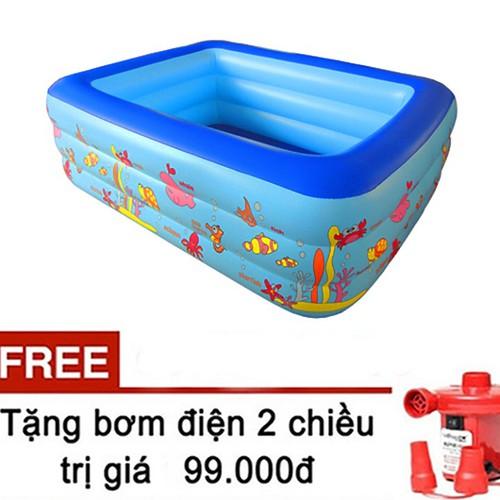 Bể bơi - bể bơi cho bé - bể 1m5 tầng cho bé