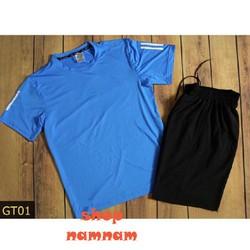Bộ quần áo thể thao nam có big size xanh dương
