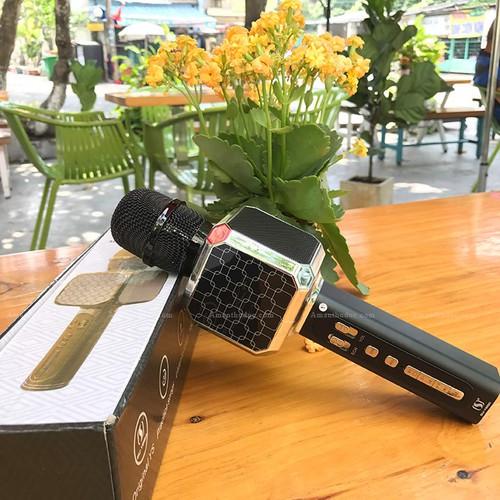 Micro hát karaoke gia đình, cá nhân ys05, kiêm loa bluetooth hot nhất thị trường