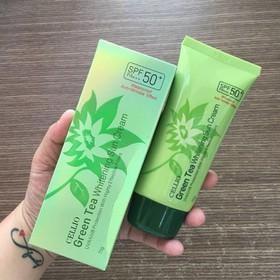 Kem chống nắng kiềm dầu Cellio Green Tea Whitening Sun Cream 70ml - 558