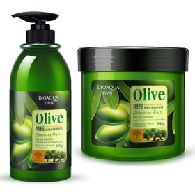 Cặp dầu gội, dầu xả ngăn rụng tóc, phục hồi tóc hư tổn Olive Bioaqua - BGX