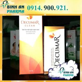 Bộ đôi trị mụn: sữa rửa mặt + gel trị mụn DECUMAR - comboTriMun