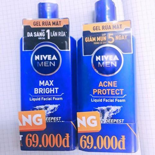 Gel rửa mặt Nivea Men 150 ml