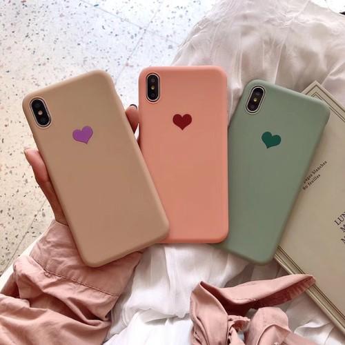 Ốp lưng điện thoại chống bẩn hình trái tim