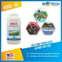 Men vi sinh xử lý ao nuôi tôm nước ngọt, thủy hải sản Aqua SC - chai 1 lít