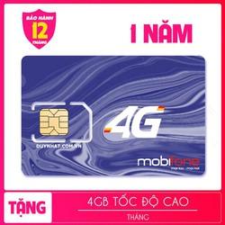 SIM MOBI 4G 48GB 1 NĂM
