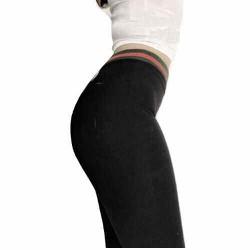 quần legging phối cạp màu thể thao