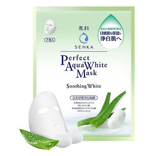 Hộp 7 mặt nạ dưỡng trắng dịu mát da senka perfect aqua white mask soothing white 25ml *7 - 16991160 , 19802313 , 15_19802313 , 175000 , Hop-7-mat-na-duong-trang-diu-mat-da-senka-perfect-aqua-white-mask-soothing-white-25ml-7-15_19802313 , sendo.vn , Hộp 7 mặt nạ dưỡng trắng dịu mát da senka perfect aqua white mask soothing white 25ml *7