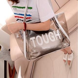 Túi Xách Nữ Đeo Vai, Nhựa PVC Trong Suốt, Kèm Túi Nhỏ Bên Trong - TUI+18 thumbnail