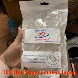 Túi 100 hạt mạng Golden Japan RJ45 - túi hạt mạng RJ45 - Đầu bấm mạng