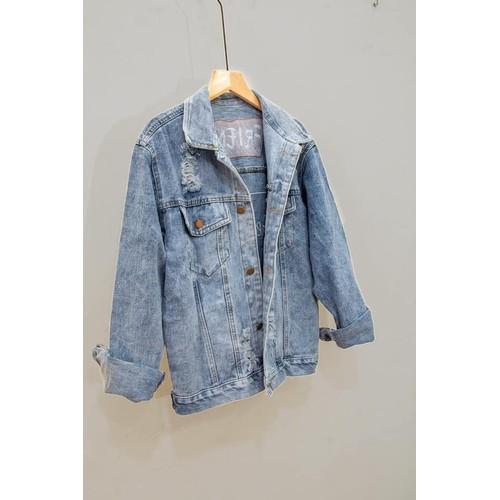 Áo khoác jeans nữ vnxk