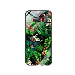 Ốp Lưng cho điện thoại Samsung Galaxy S8 - Mặt Kính Cường Lực -  0323 LEAF02