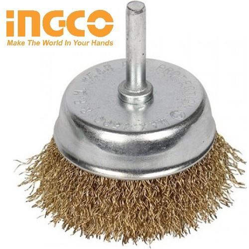 Bánh cước có cán 75mm Wire Cup Brush INGCO WB30751