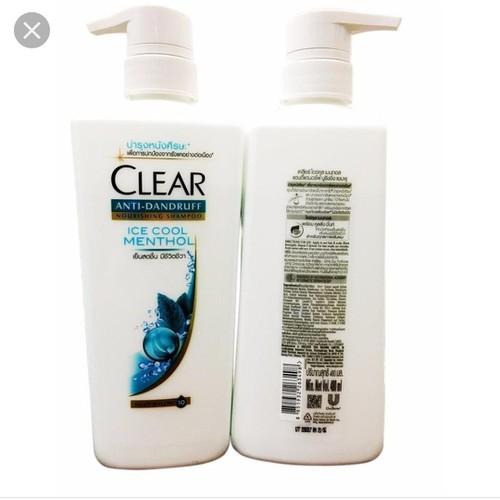 Dầu gội clear bạc hà 450ml - nhập khẩu thái lan - dầu gội clear bạc hà 450ml