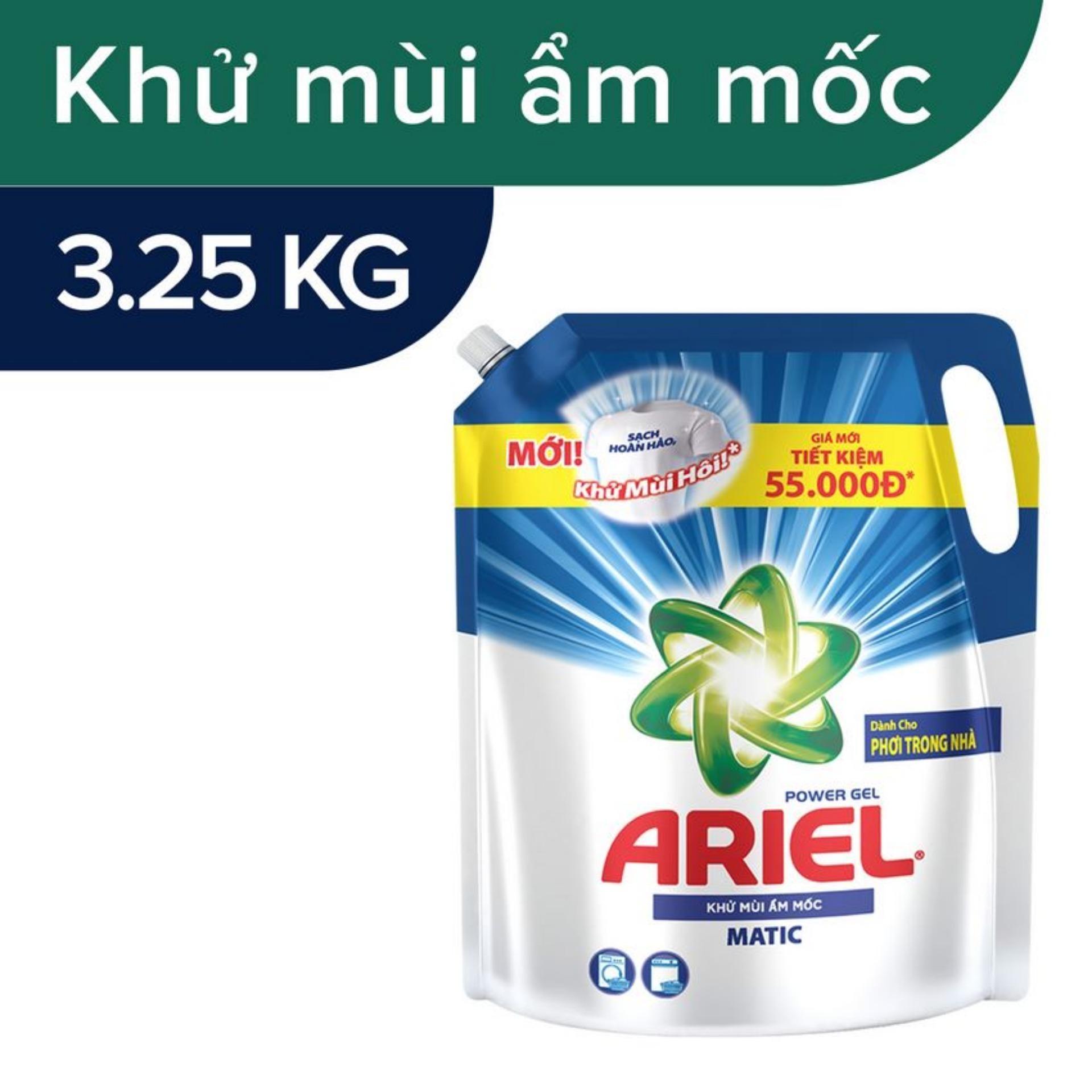 Nước Giặt Ariel Khử Mùi Ẩm Mốc Túi 3.25kg - 4902430841573