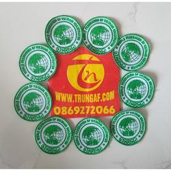 logo liên đoàn thế giới võ cổ truyền việt nam – đường kính 5,5cm