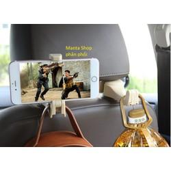 [Nhập SMANTA2019] - 01 Móc treo đồ có thể treo gắn điện thoại xem video gắn tựa đầu ô tô - Đen hoặc Kem